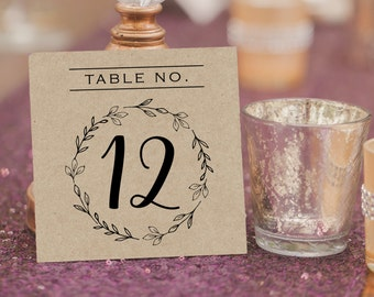 Rustic Wedding Table Numbers - Printable Table Numbers - Rustic Wedding - Kraft Table Card - Rustic Wedding - Seating Table Cards #WDH0247