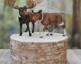 Moose bride groom-moose lover-hunting-rustic-country-camping-hunter groom-camouflage-moose hunter-deer-elk-Mr and Mrs-Alaska-Maine-woodland