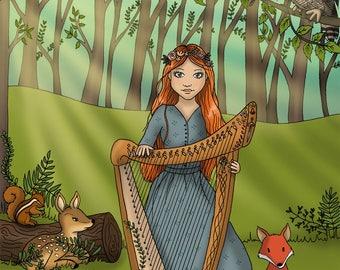 The fairy mists, A3 Print