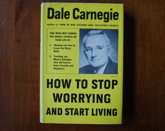 Vintage 1944 Book - How to Stop Worrying and Start Living - Dale Carnegie