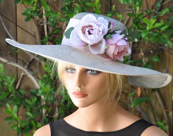 Kentucky Derby Hat, Wedding Hat, Derby Hat, Wide Brim hat, Ascot Hat, formal hat, Occasion hat
