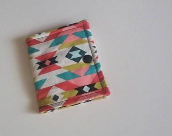 Tea Wallet, Tea Bag Wallet, Tea Bag Holder, Tea Bag Storage, Tea Bag Caddy, Travel Tea Bag Holder,  Modern Aztec