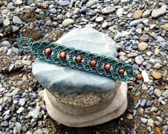 Forest Green Hemp Bracelet