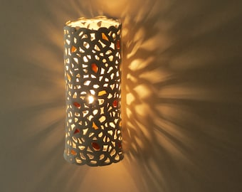 Lighting sconce. Wall lamp.Ceramic lighting. Living room lights.