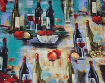 New!  1/2 Yard of Wine - Afternoon Delight - 100% Cotton Quilt fabric by David Textiles
