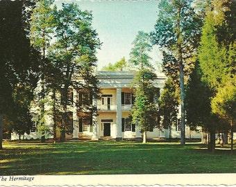 Vintage 1970s Postcard Tennessee Nashville The Hermitage President Andrew Jackson Home Residence Building Photochrome Era Postally Unused