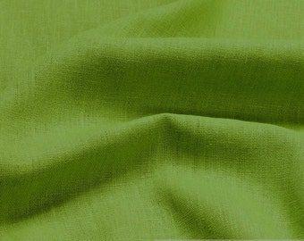 fabric pure linen light green