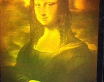 Mona Lisa smile-3D hologram