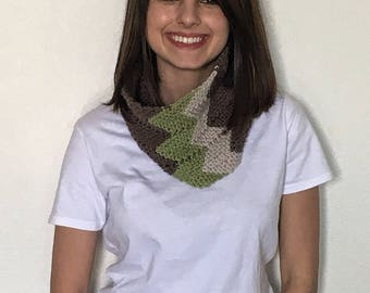 Knit Scarf, Brown Scarf, Cowl Scarf, Knitted Cowl, Gifts Under 30,  Hand Knitted Scarf, Brown Knit Cowl, Hand Knit Cowl Scarf, Vegan Scarf