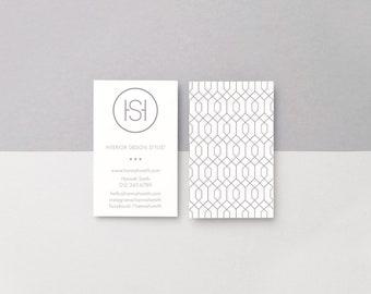 Minimal Grey Linea Business Card Template