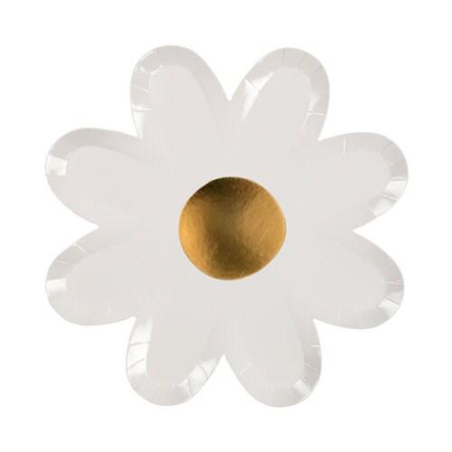 Meri Meri daisy paper plates. flower party supplies. fairy party plates. flower child plates. tea for two plates. daisy decor. daisy plate  sc 1 st  thehappyelfshop & Meri Meri daisy paper plates. flower party supplies. fairy party ...