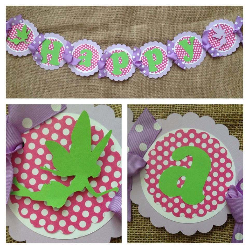 Fairy Birthday Banner Fairy Party Banner Fairy Birthday