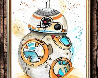 BB-8 watercolour