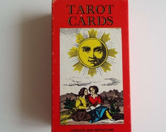 Vintage 1970's Tarot Cards SR Kaplan AG Muller Switzerland Fortune Telling Cards Complete With Instructions Occult Death Devil Tarot Game