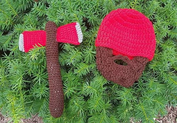 Walking Dead Baby, Crawling Dead, Little Ass Kicker, Camping First Birthday, Woodland First Birthday, Axe Toy, Baby Beard Beanie Hat Toddler