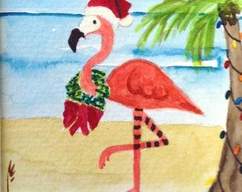 Holiday Flamingo