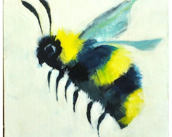 Small Bee Painting in Acrylic