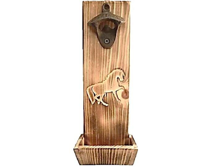 Bottle Opener Horse Carving