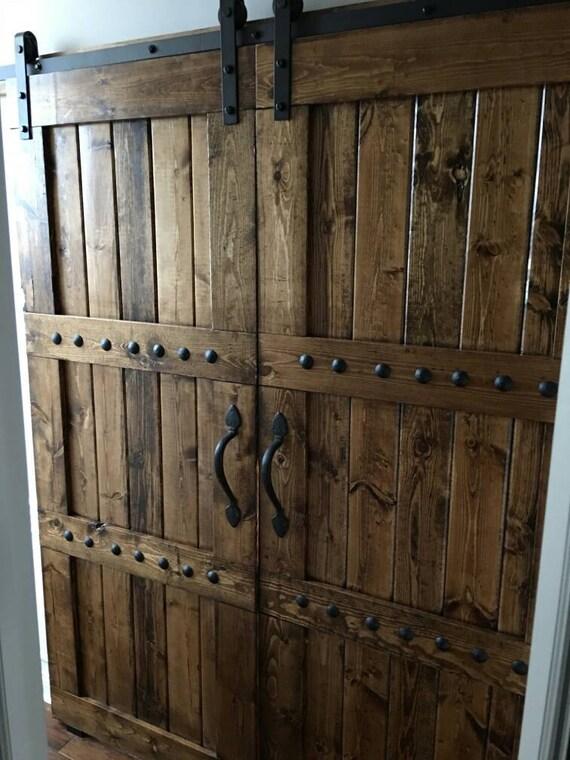 & Interior Double Barn Door Package Double Doors Sliding