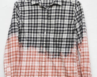 Bleached Flannel White & Black