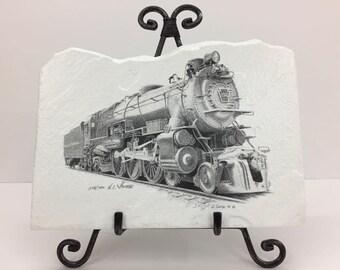 Train Engine Handmade Flagstone
