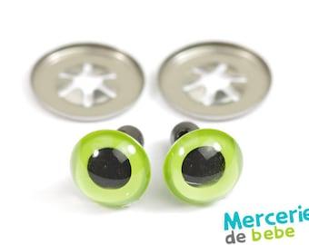 Set of 2 eyes for plush - 10 mm - Green