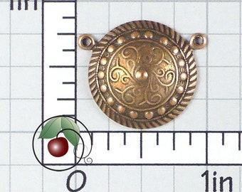 Round Necklace Connectors Copper Links, Vintage Jewelry Connectors, Copper Connectors, Made in USA, Copper Plated Brass, 4 Pcs, 1321co4