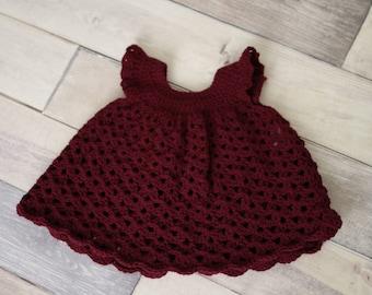Maroon Dress Baby Dress Infant Dress