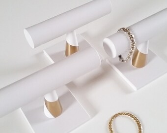 Bracelet stand  White-Gold Edition Accesoire Sieraden display Organiser Wedding gift