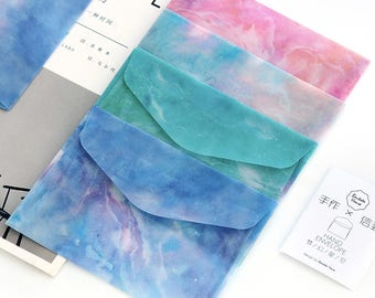 Translucent Galaxy Universe Envelope (1pc) // Letter Envelopes // Vellum Envelope // Letter Writing Envelopes