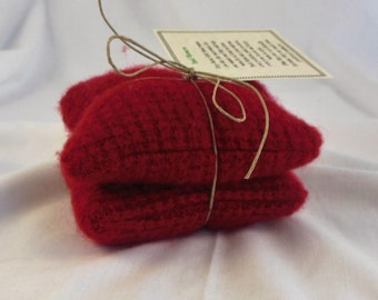 Thermal Red Cashmere Wool Hand Warmers no, 191