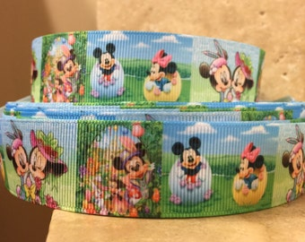 5 YDS  Minnie Mouse Easter Egg Hunt Ribbon