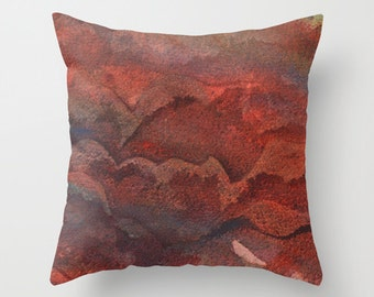 Abstract Contemporary Watercolor Throw Pillow Cover