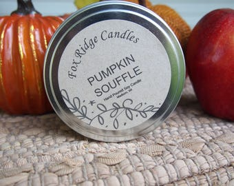 Fall Pumpkin Soy Candle - All Natural Candles - Handmade Soy Candles - Hand Poured Soy Candles - Soy Candles - Fall Candles - Gift for Her