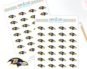 28 Baltimore Ravens Football Reminder or Planner Stickers
