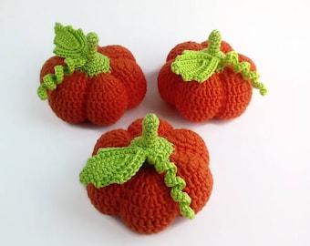 1 pc-Crochet pumpkin Amigurumi pumpkin  Orange pumpkins Baby gym Teethers Pumpkins Knitting vegetables Eco-toys Pretend that food