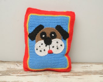 Vintage Crochet Dog Pillow