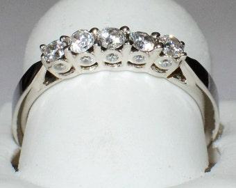 White Gold Wedding Ring prong , Proposal  Wedding Gold Ring