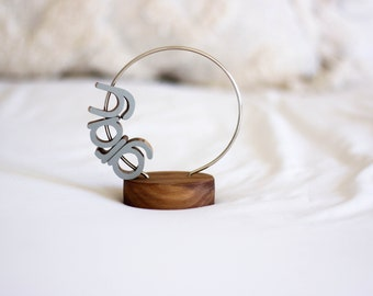 Walnut Letter Loop - Personalized Wooden Name Decor