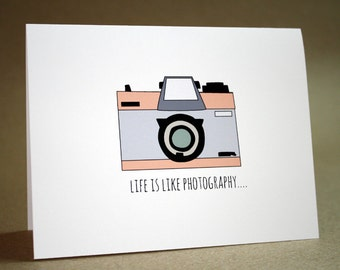 Encouragement Card - thinking of you, camera, photography, retro, geekery, friends, inspirational, motivational