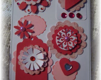 Layered CardStock Embellishments for Scrapbook,Journal,or Handmade Card