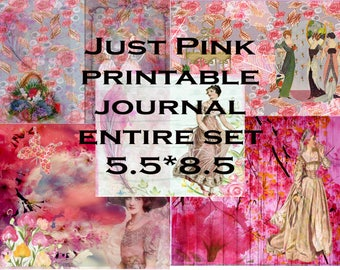 Just Pink Printable Journal-link