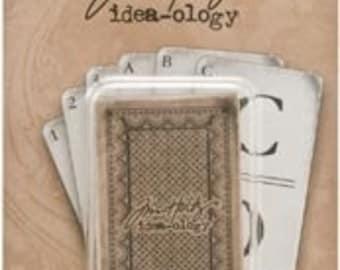Tim Holtz Idea-ology Alpha Cards