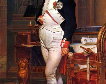 Poster, Many Sizes Available; Emperor Napoleon Bonaparte In His Study At The Tuileries, By Jacques-Louis David, 1812