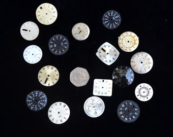 18 vintage watch faces for steampunk or craft projects