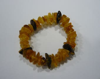 Baltic amber bracelet for adults, multi color, Bernstein Armband