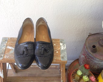 Enzo Angiolini Womens Lorell Leather Square Toe Loafers Black Size 5.5 Dwhg