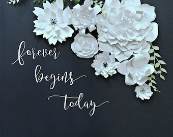 Paper Flower Backdrop. PhotoBooth. Photo Booth - PRE-ASSEMBLED Flowers. Wedding Photo Backdrop. Baby Shower Decore