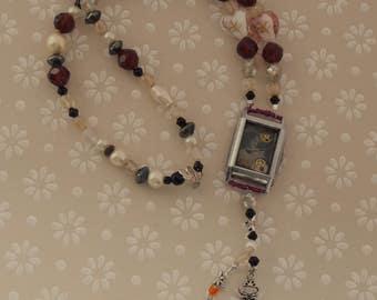 Steampunk Necklace, Vintage Photo Necklace,  Art Deco Watch Case, Vintage Photo