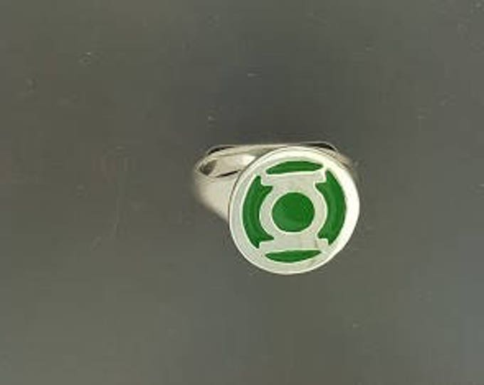 Green Lantern Ring in Sterling Silver